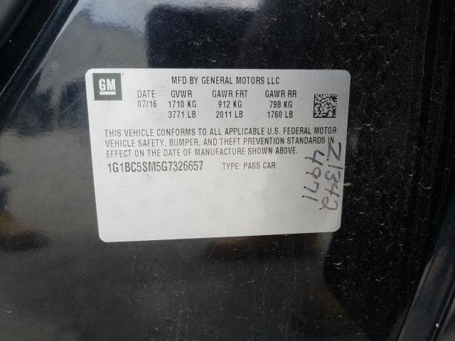 Купить CHEVROLET CRUZE LS 2016 в Украине - 10