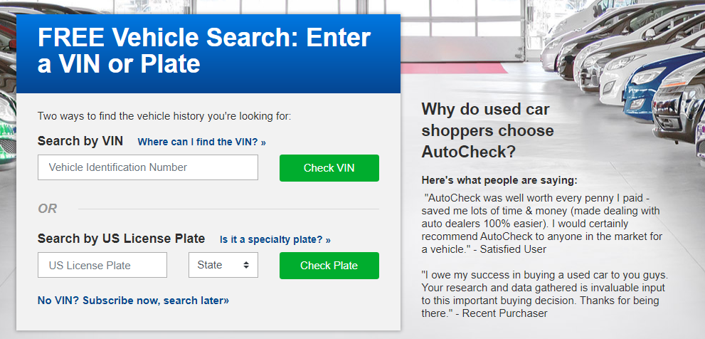 Проверить авто из США в Autocheck