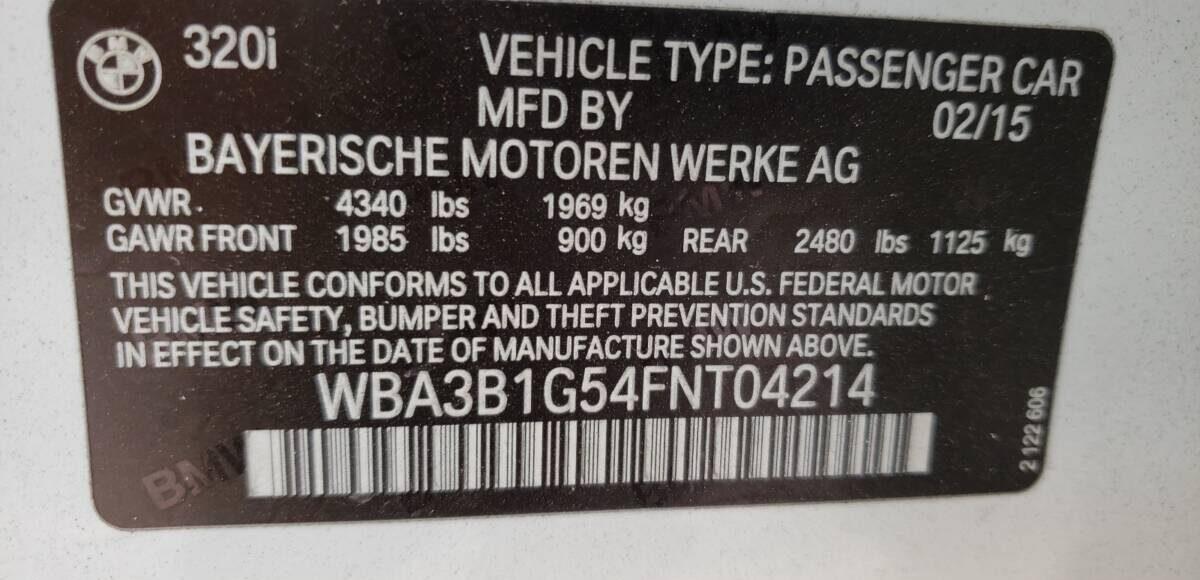Купить 2015 BMW 320 I в Украине - 10