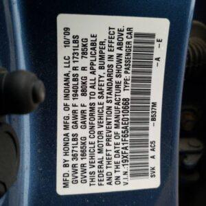Купить 2010 HONDA CIVIC LX-S в Украине - 10