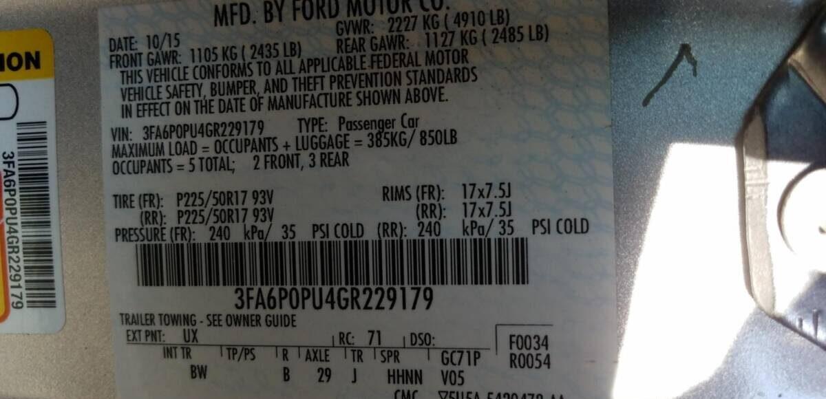 Купить 2016 FORD FUSION SE PHEV в Украине - 10