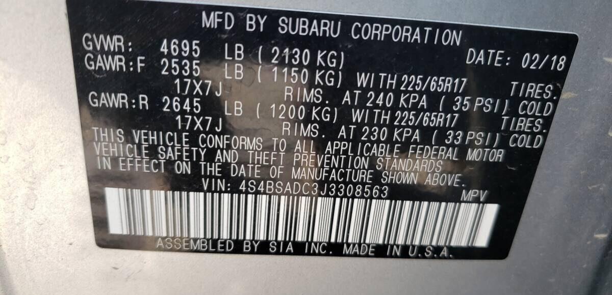 Купить 2018 SUBARU OUTBACK 2.5I PREMIUM в Украине - 10